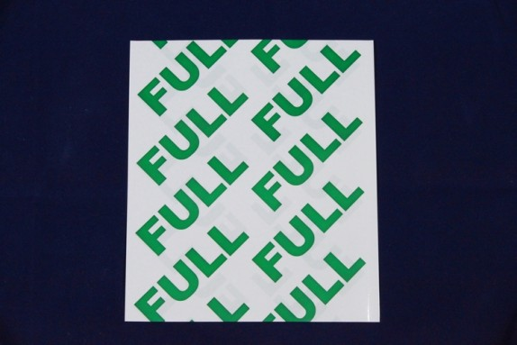 Cylinder Valve Shrink Band White w/FULL
